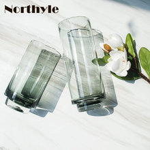 Luxury Transparent creative Glass Vase bottle home decoration Flower glass flower wedding
