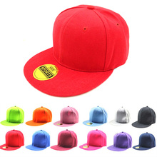 Adjustable Men And Women Baseball Cap Retro Solid Color Flat Hat Outdoor Hip Hop White Black Fashion