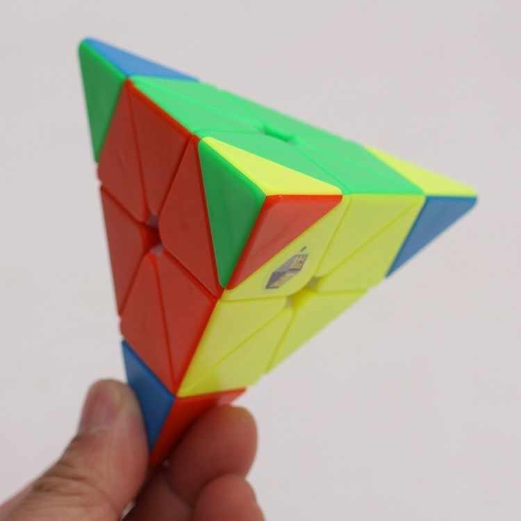 """Yu Xin Full Brain Головоломка """"Пирамида Рубика"""" Специальная форма Магическая Нео кубическая, для конфет цвет Развивающие игрушки для детей Fight Spinner"""