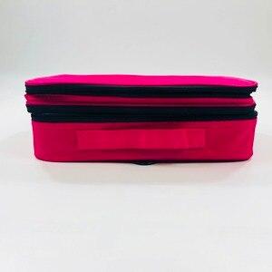 Image 3 - Make up Tasche Organizer Professionelle Make Up Künstler Box Größeren Taschen Nette Korea Koffer Make Up Koffer mode kosmetik tasche Fall