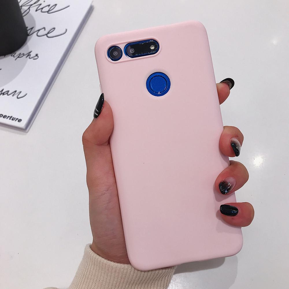 Huawei Honor View 20 Case Candy Color Slim Soft Silicon Phone Case For Huawei Honor V20 View20 Matte Full Body TPU Back Cover in Fitted Cases from Cellphones Telecommunications