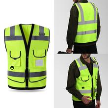 Hi-Vis Unisex High Visibility Reflective Jacket Security Waistcoat Outdoor Night Riding Running Safety Vest бюстгальтер vis a vis цвет розовый bf0868p размер 70c
