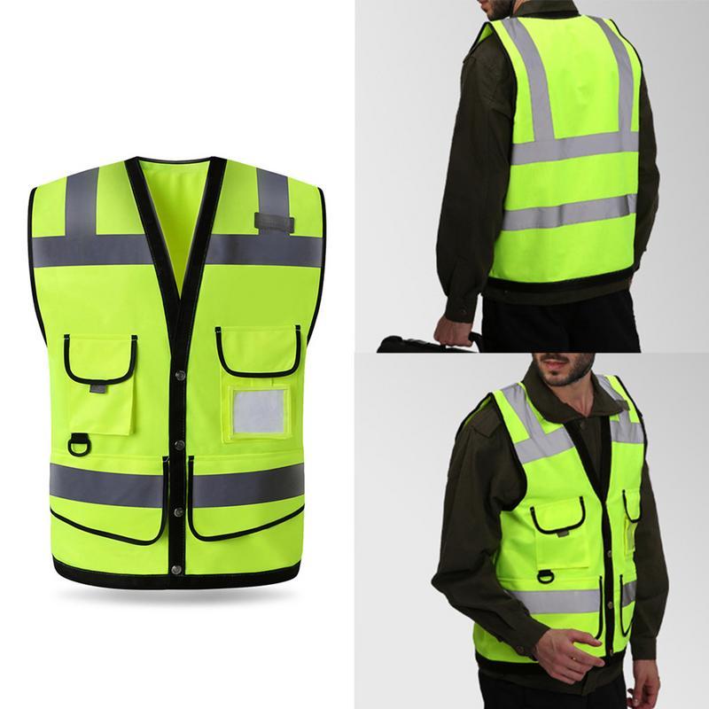 My Choice Stuff Mens High Visibility Executive Reflective Waistcoat Adults Hi Vis Viz Trouser Small//5X-Large