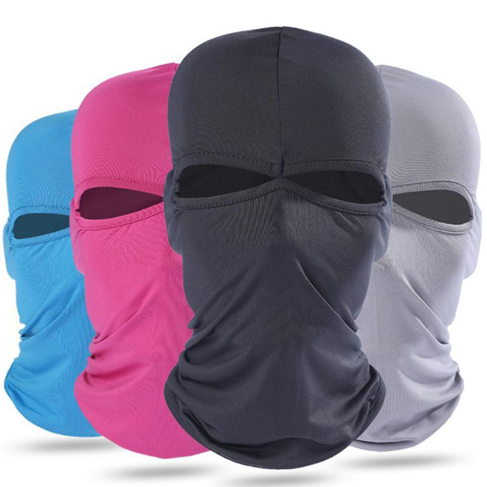 Brave 2019 Windproof And Dustproof Hood Hood Sunscreen Mask Solid New Men Womens Hat Balaclava Full Face Mask Two Holes Unisex Hat Men's Hats Back To Search Resultsapparel Accessories