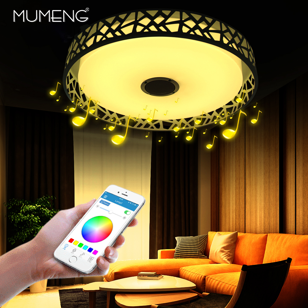 Modern Creative LED Water Cube Smart Ceiling Lights RGB Dimmable 36W APP Remote control Bluetooth Music light for living roomModern Creative LED Water Cube Smart Ceiling Lights RGB Dimmable 36W APP Remote control Bluetooth Music light for living room
