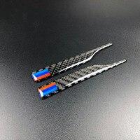 100 шт. воздушный карбоновый Зеркало заднего вида наклейки анти столкновения B стойки для BMW X1 X3 X5 X6 F30 E90 E92 F10 F18 F11 F07