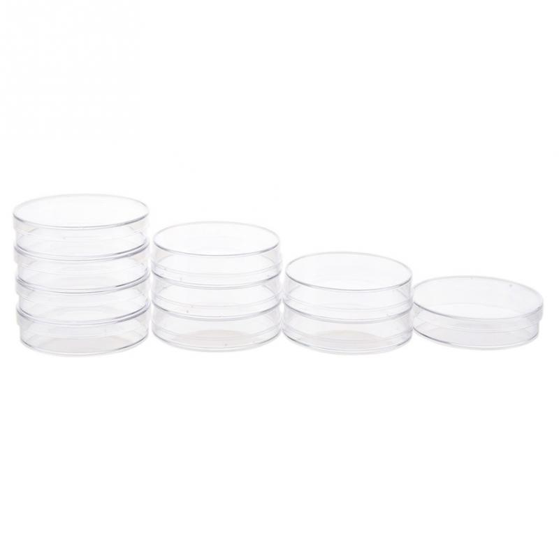 10Pcs/Set 70mm Polystyrene Petri Dishes Affordable For Cell Clear Sterile Chemical Instrument Drop Shipping