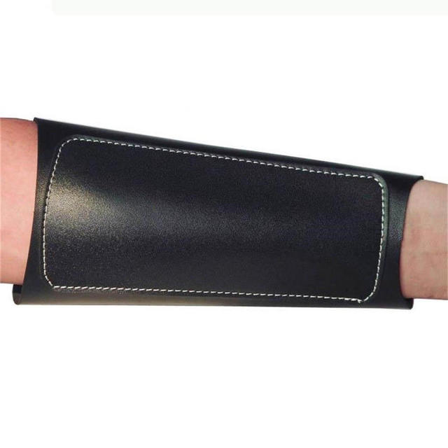 Archery Arm Guard Leather Restraint Protector Guard Pull Bow Protect Arm for Shooting Hunting 3