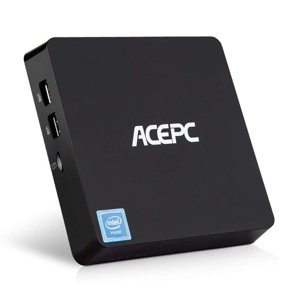 Mini PC desktop Computer ACEPC T11 Fanless Intel Atom Z8350 Windows 10 Licenced 4GB RAM 64GB