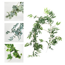 Artificial Flower Branch Plant Vine Green Fern 1.7 Meter Rattan for Wedding Decoration Living Room Garden Decoration durablity(China)
