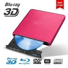 Blu-ray USB 3.0 External BD/CD/DVD Drive Burner Polished Metal Chrome For Mac/Windows 10/Laptop/PC Optical Player Writer