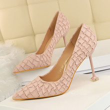 Spring Autumn Pumps Women High Heels Pointed Toe Retro Party Wedding Dress Shoes Woman Black Pink Thin Heels DS-A0118 fashion sweet women 10cm high heels pumps female sexy pointed toe black red stiletto high heels lady pink green shoes ds a0295