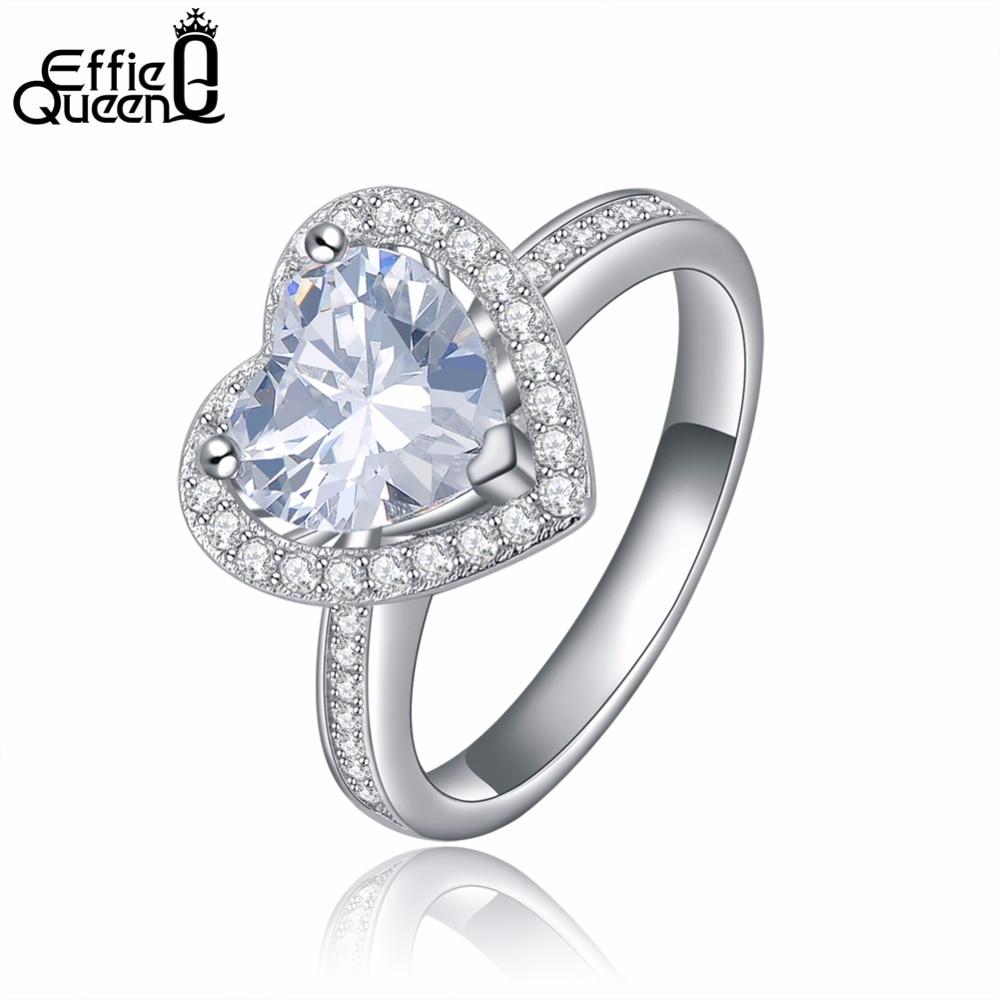 Hochzeits- & Verlobungs-schmuck Effie Königin Neue Ankunft Herz Form Hochzeit Ring Für Frauen Mit Gepflasterte Micro Aaa Cubic Zirkon Engagement Ring Dr40