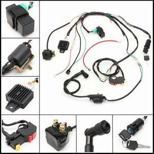 Image 1 - Motorcycle CDI Wiring Harness Loom Solenoid Ignition Coil Rectifier for 50cc 110cc 125cc PIT Quad Dirt Bike ATV