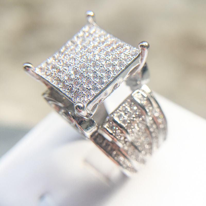 Architecture Hollow Heart House Rings for Women Tops Decorating Wide Square Statement Ring with Stone Wedding silver 925 jewelryArchitecture Hollow Heart House Rings for Women Tops Decorating Wide Square Statement Ring with Stone Wedding silver 925 jewelry