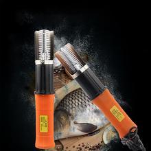 Электрический скалер для рыбы, водонепроницаемые Скалеры для рыбной ловли, чистящий очиститель для удаления накипи, скребок для морепродуктов, инструменты для ЕС/США, два цвета