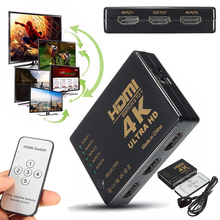 1Set 3D 5 Port 4K HDMI Switch Kits Professional HDMI 1.4 Switcher Selector Splitter Hub iR Remote Supprots HDTV DTV 1080p Mayitr hdmi splitter 3port 4k 2k switch selector switcher hub