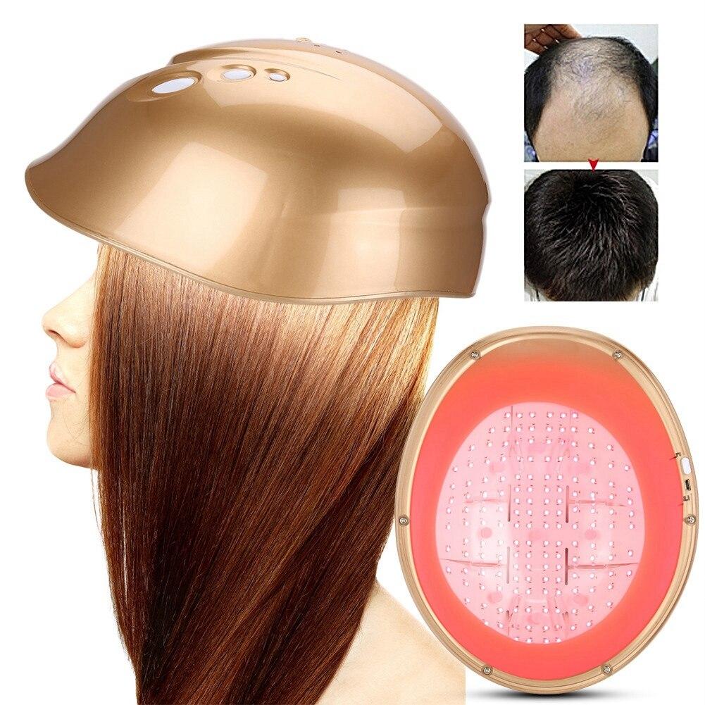 Casque de repousse de croissance de cheveux de Diodes de LLLT 160 réduisent le chapeau de perte de cheveux