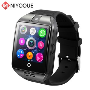 Image 2 - Smart Watch Q18 supporto Sim Card telecamera remota per IOS Android Wear Wach PK DZ09 GT08 Smartwatch Phone Relogio Inteligente