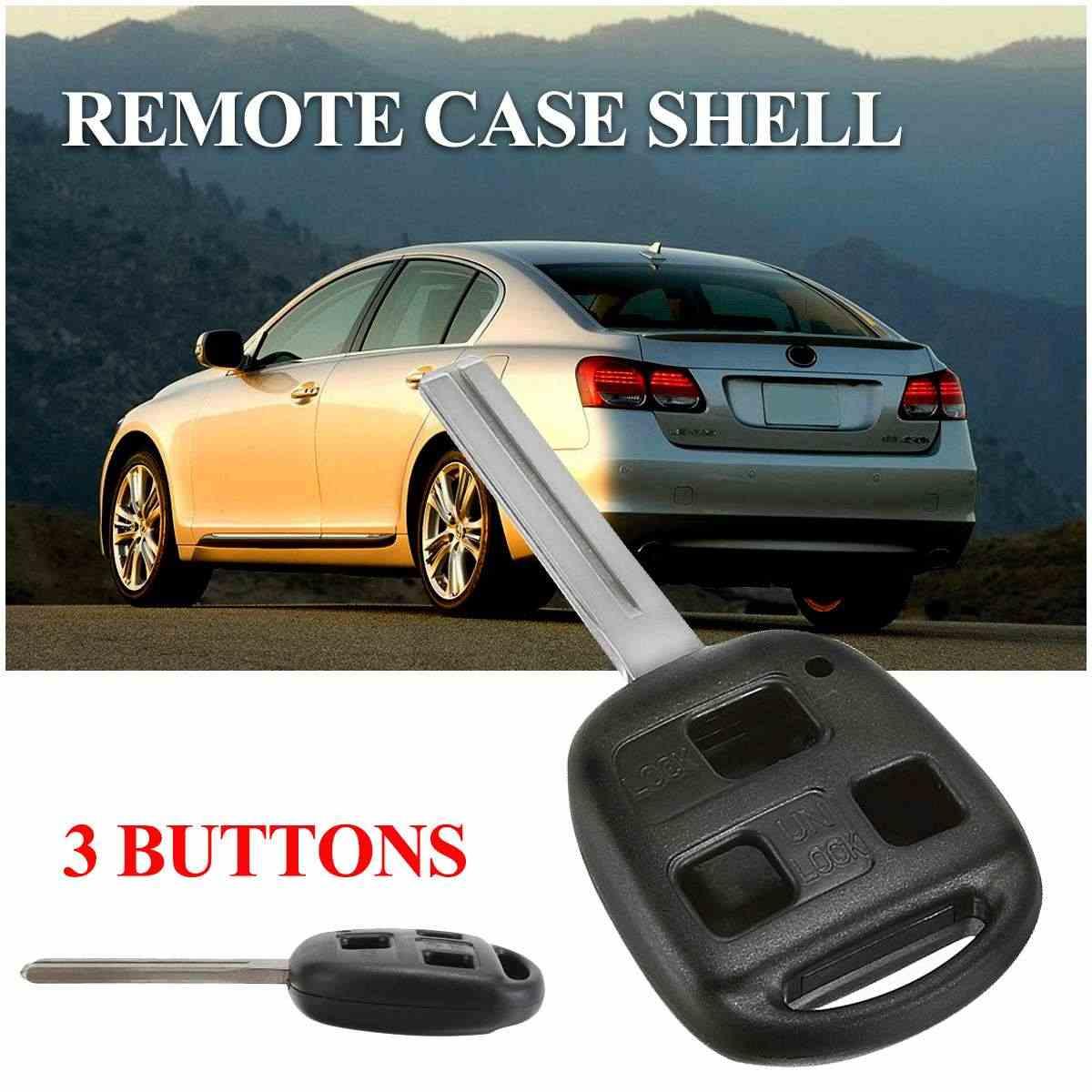 3 przycisk klucz zdalny pilot z dostępem bezkluczykowym wymienne etui ostrze Shell dla Lexus IS200 GS300 LS400 RX300 LX470 2003 2004 2005 2006
