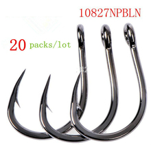 20 packs mustad hooks for sea fishing  10827 np # jig hook jigbaits