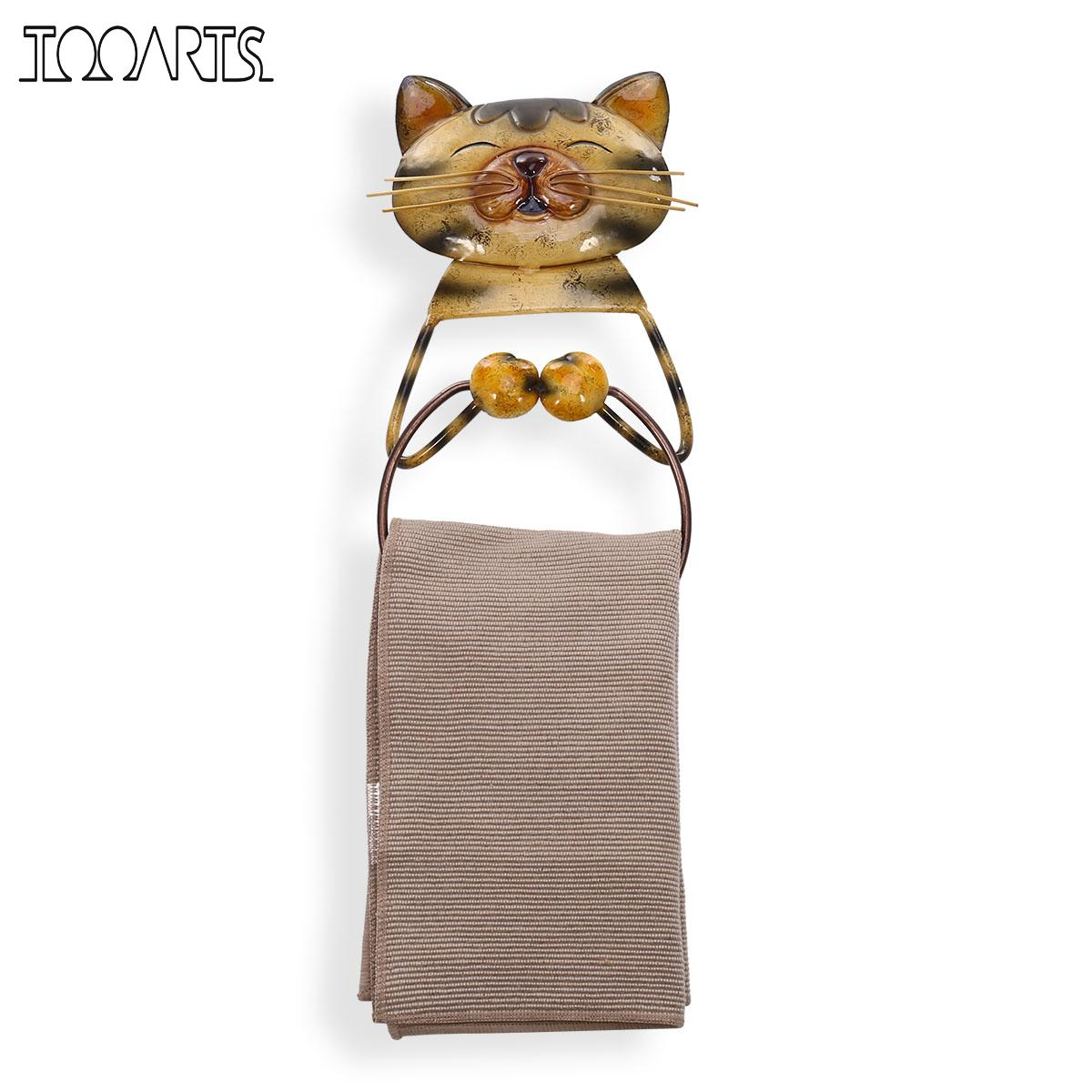 Buy cat towel ring holder heavy duty iron - Bathroom towel holders accessories ...