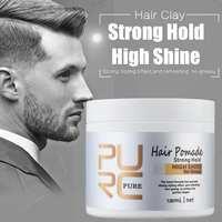 120 мл модные матовые готовые волосы для укладки восков глина ежедневное использование мужские волосы глина Высокая Сильная Фиксация низкий...