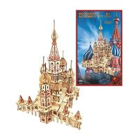 3D Wooden Puzzle Model DIY Handmade Jigsaw In3D Frared Engraving DIY Safe Assembly Constructor Kit Toy For Kids Teens And Adults