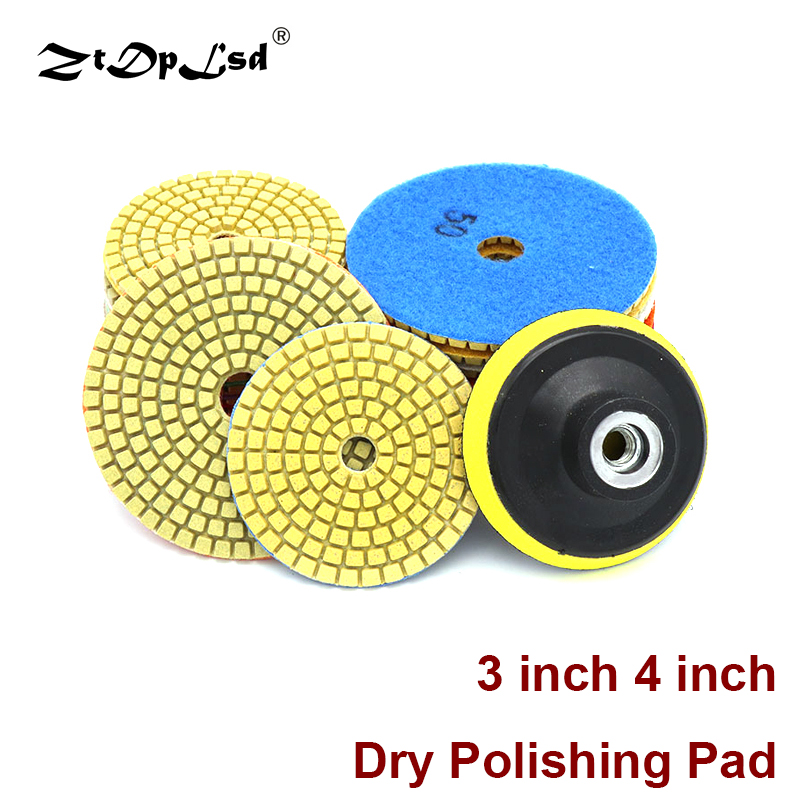 3/4 Inch 80/100mm Diamond Wet Dry Polishing Pad Resin Disc For Granite Marble Pads Dia Sanding Disc Polisher Concrete Stone Tool