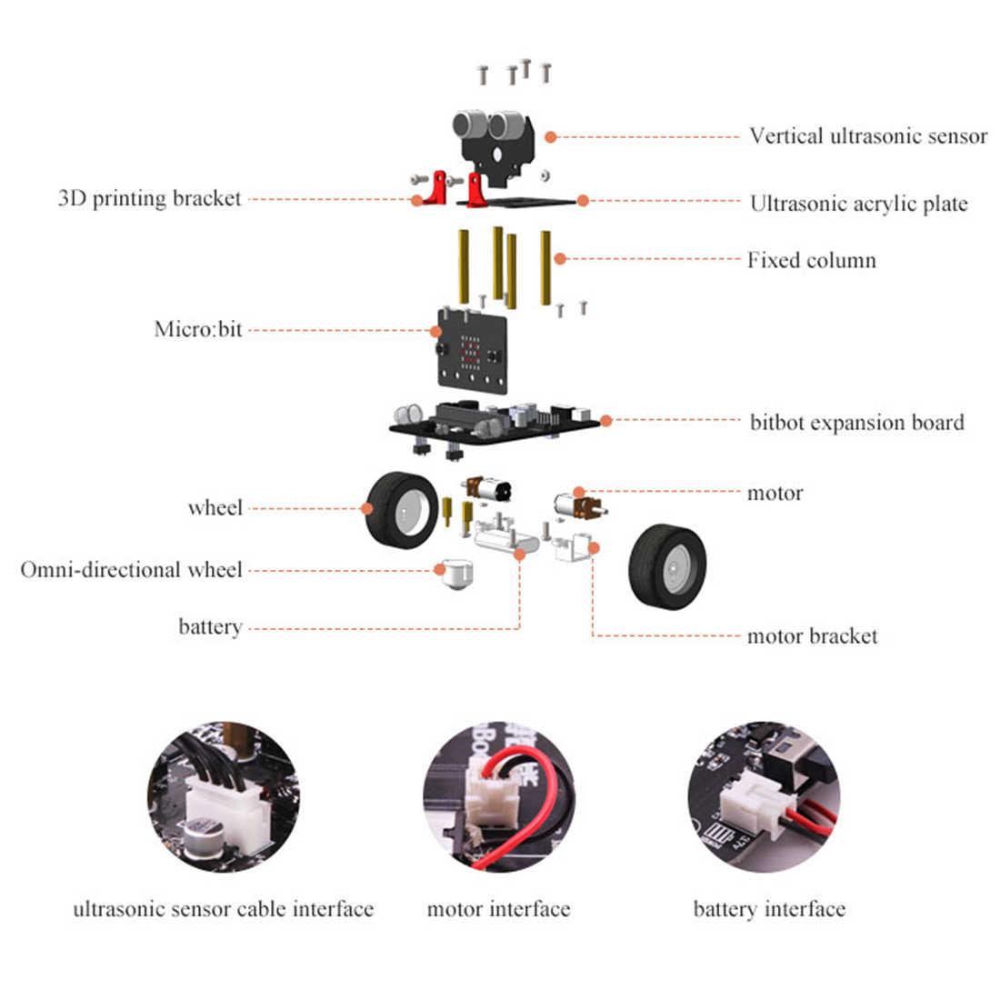 2019 новый графический программируемый робот-автомобиль с Bluetooth ИК и трекинговым модулем, паровой робот-игрушка для микро: бит Bbc