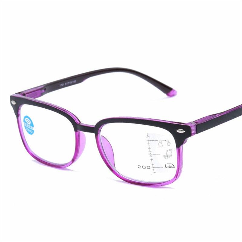 Oulylan Progressive Multifocal Reading Glasses Women Men Blue Light Blocking Glasses Presbyopia Eyeglasses Diopter +1.0 +4.0 blue light blocking glasses