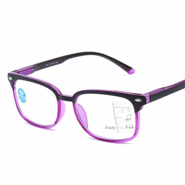 Oulylan Progressive Multifocal Reading Glasses Women Men Blue Light Blocking Glasses Presbyopia Eyeglasses Diopter +1.0 +4.0