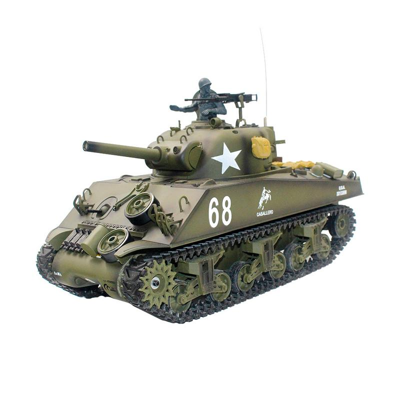 Heng Long 3898-1 2.4G 1/16 US Sherman M4A3 Tank Radio Control Battle Tank Model цена и фото