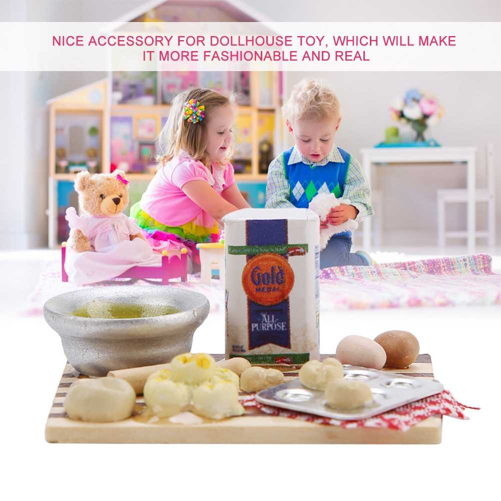 Children Kids DIY Toys Play House Toy Dollhouse Accessories Miniature Food Bread Cooking Board for 1/12 Scale Doll