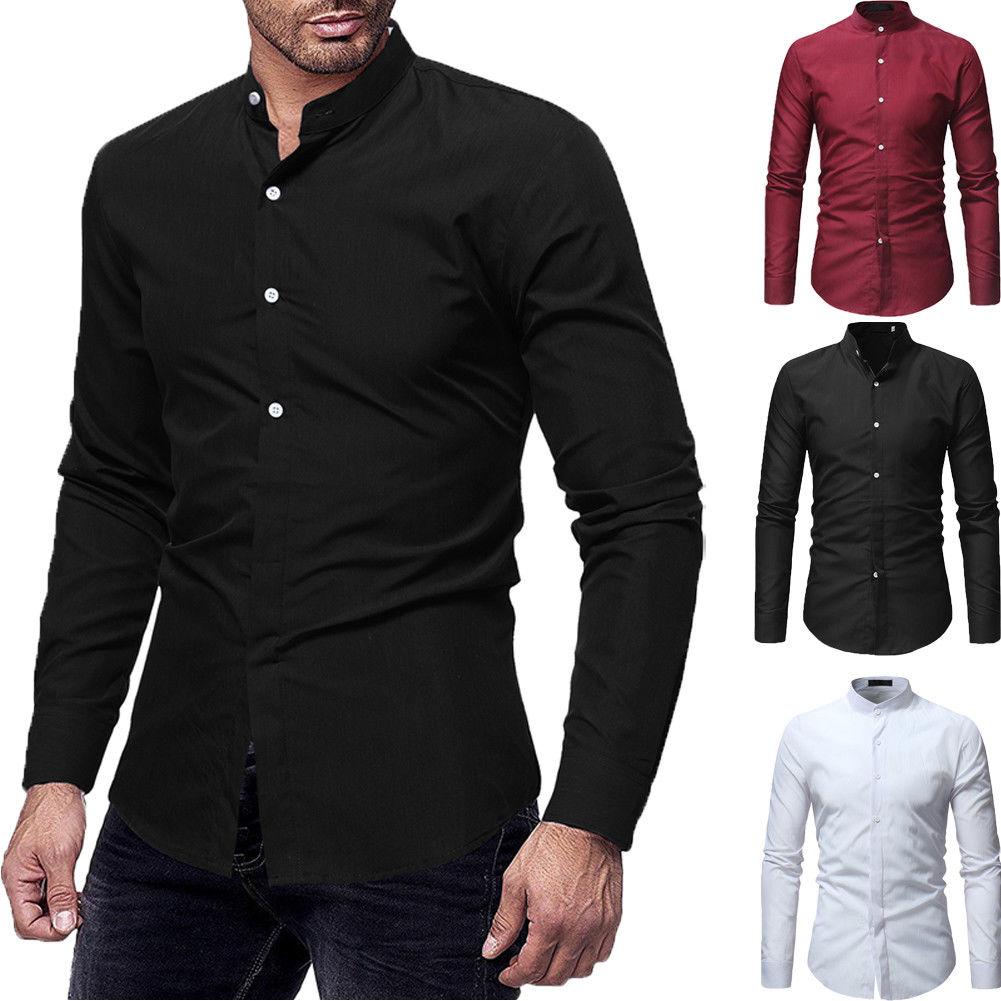Hemden Diskret Formale Luxus Männer Slim Fit Kleid Langarm-shirt Stilvolle Formale Partei Casual Shirt Top Business Smart Shirt Komplette Artikelauswahl Herrenbekleidung & Zubehör
