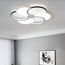 Black and white modern led ceiling chandeliers for living room bedroom lampadario Ceiling installation chandelier lighting