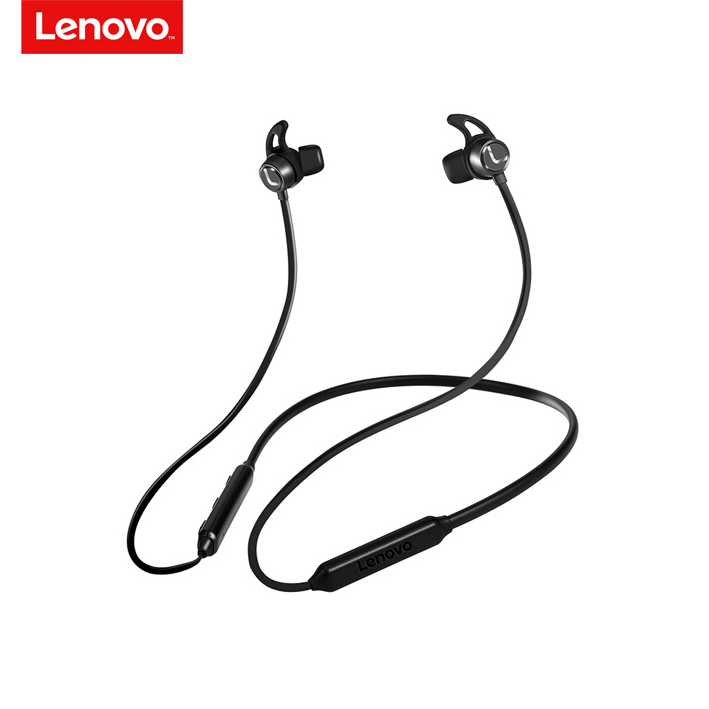 Lenovo Earphone Surround-Headset Bluetooth-Sport Wireless V5.0 Waterproof Original