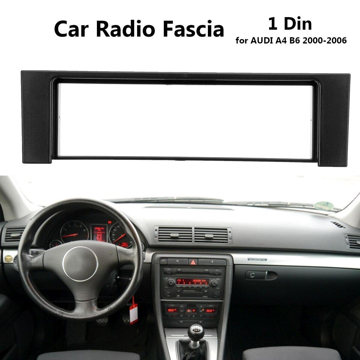 1 din rádio estéreo do carro fascia painel placa quadro adaptador para audi a4 b6 2000-2006 guarnição interior do carro