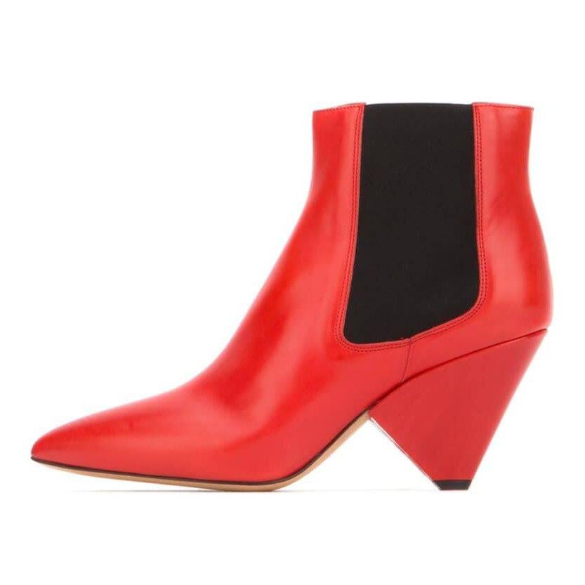 Schuhe Herbst Spitz Chelsea High Rot as Frauen Stiefeletten Designer Stiefel Show 2019 Weiß Heels As Leder Silber Show Neue Spike Winter xqwz0n7