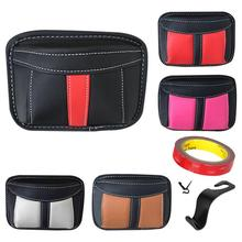 Car Phone Storage Box Adhesive Leather Hanging Bag Holder For Cellphone Organizer Container Accessories