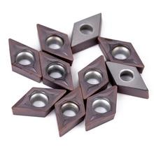 10 шт. DCMT0702 YBC205 карбидные лезвия 55 градусов Алмазная форма вставки для токарного станка токарный инструмент держатель расточные бар