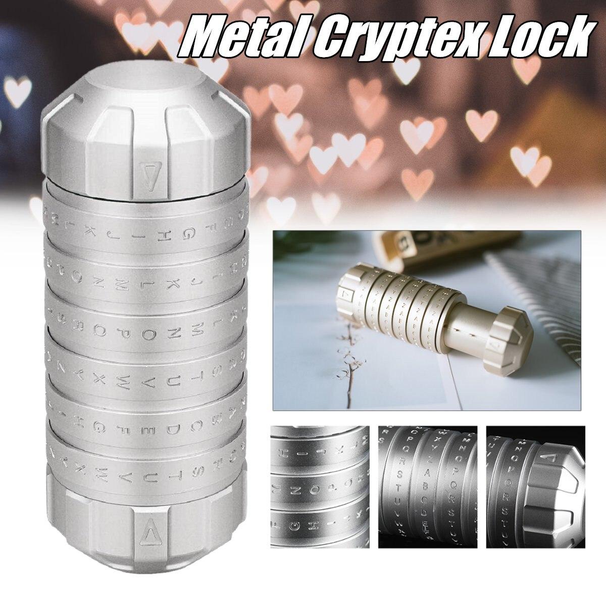 Mode nouveau Style jouets éducatifs en métal Cryptex serrures idées cadeaux Da Vinci Code serrure pour épouser les accessoires de chambre d'évasion amoureux
