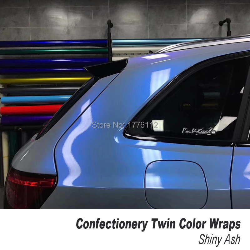 High end series Confectionery Twin Color wrap Car Body Protective Film Color Change Vinyl Wrap low initial tack adhesive