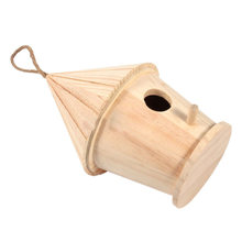Wooden Bird House Birdhouse Hanging Nest Nesting Box Home Garden Decoration(China)
