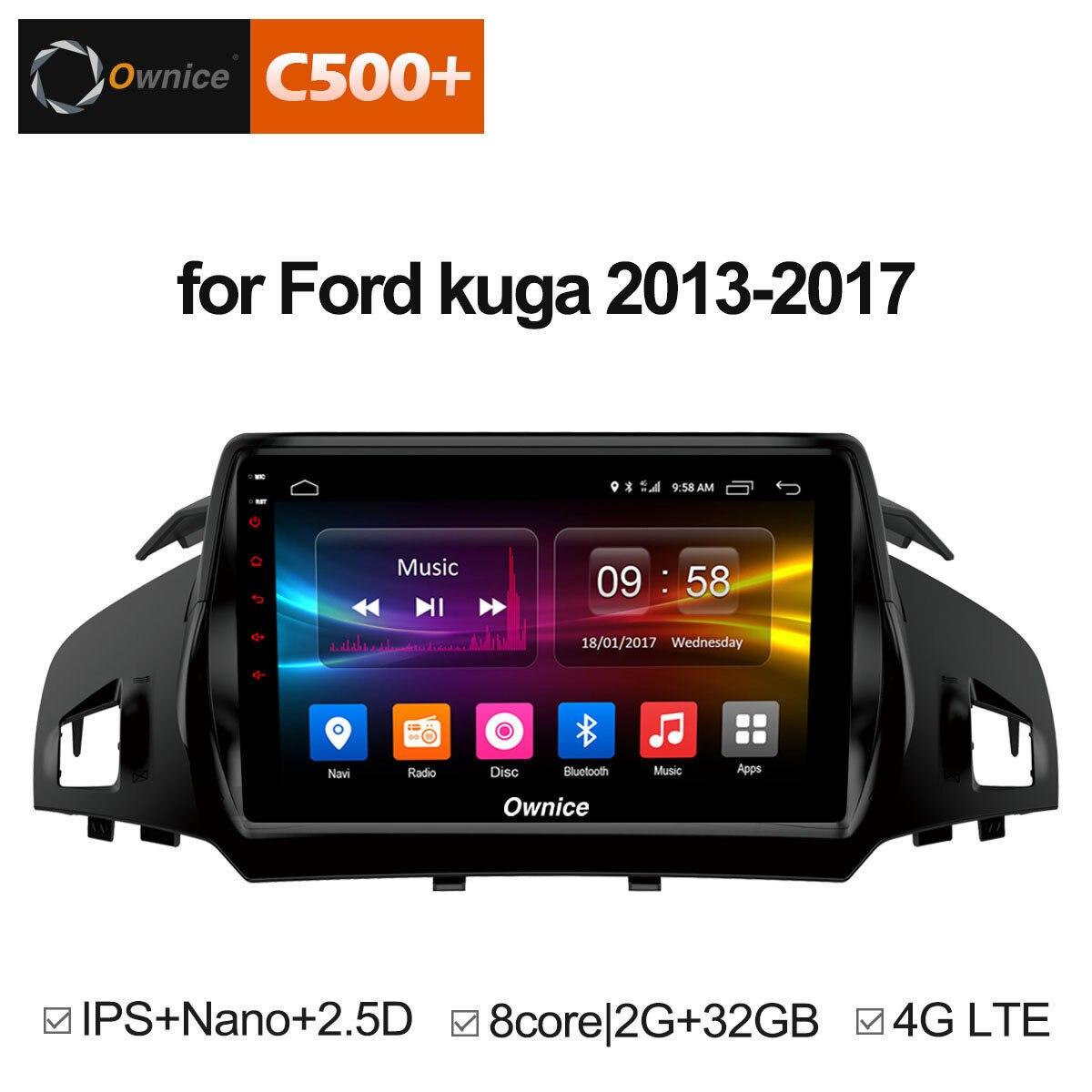 Pour Ford Kuga 2013 2014 2015 2016 2017 voiture Android unité 1 2Din radio stéréo Audio GPS navigateur DVD véhicule lecteur multimédia PC