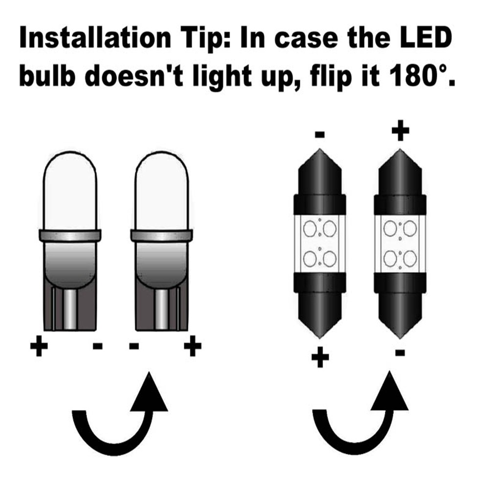 12Pcs White LED Light Bulbs Interior Package Kit For Ford Fusion 2010 2011 2012 2013 2014 Map License Plate light Ford-B-07