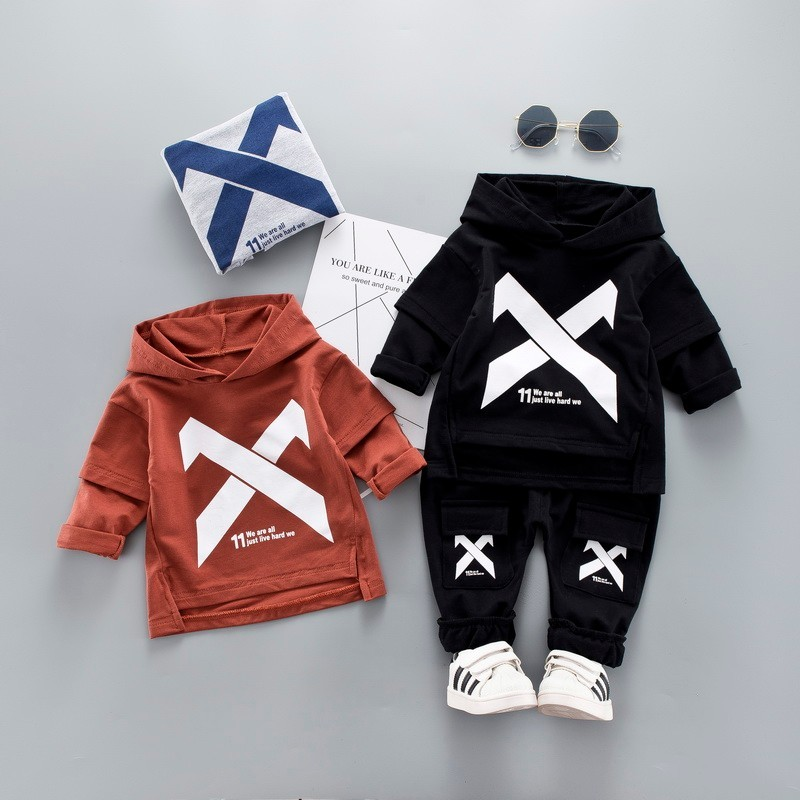 2019 Lente Kinderen Peuter Kleding Baby Jongens Meisjes Kleding Pak Baby Trainingspak Kids Sport Hooded Sweater Broek 2 Stks/sets Delicious In Taste