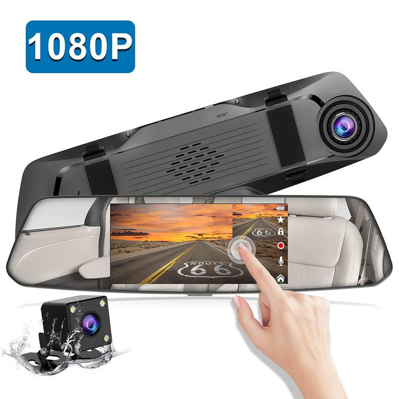 Backup Camera 5 Mirror Dash Cam 1080P Touch Screen Front And Rear Dual Lens Car Camera Waterproof Rear View Revers CameraBackup Camera 5 Mirror Dash Cam 1080P Touch Screen Front And Rear Dual Lens Car Camera Waterproof Rear View Revers Camera