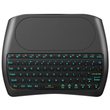 Backlight D8 Pro i8 English Russian Spanish 2.4GHz Wireless Mini Keyboard Air Mouse Touchpad 7 color backlit for Android TV BOX