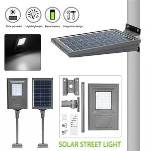Image 2 - Smuxi 20 w 태양 전원 된 거리 빛 산책로 조명 브래킷 야외 정원 보안 램프와 원격 컨트롤러